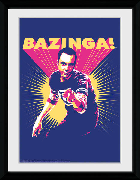 Posters The Big Bang Theory (Teorie velkého třesku) - Bazinga rám s plexisklem