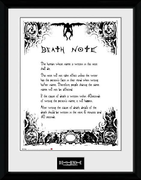 Posters Death Note: Zápisník smrti - Death Note rám s plexisklem