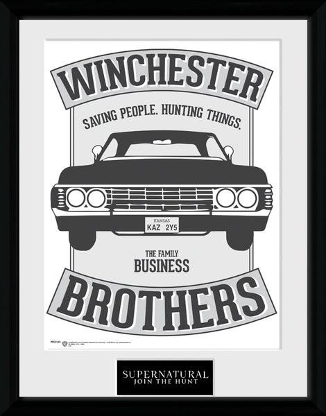 Posters Lovci duchů - Winchester rám s plexisklem