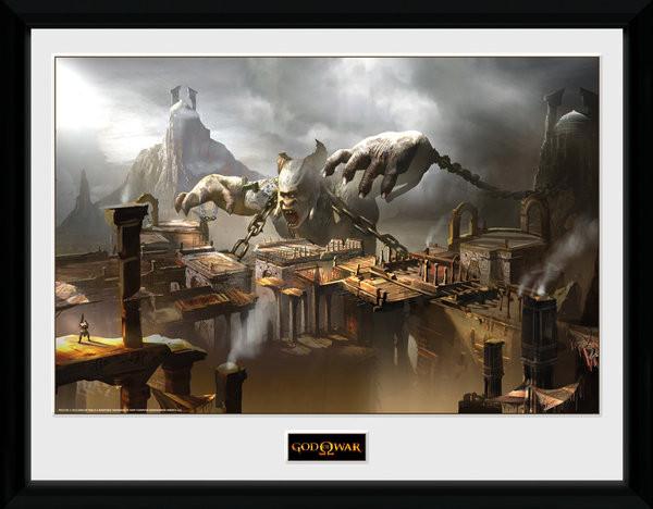 Posters God of War - Concept Art Canyon rám s plexisklem
