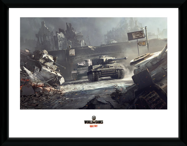 Posters World of Tanks - German Tanks rám s plexisklem