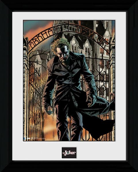 Posters Batman Comic - Arkham Asylum rám s plexisklem