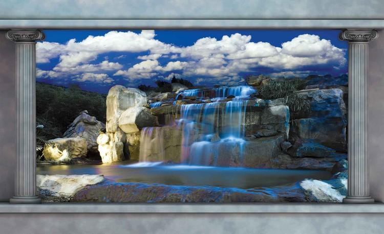 Posters Fototapeta Waterfall 104x70.5 cm - 130g/m2 Vlies Non-Woven