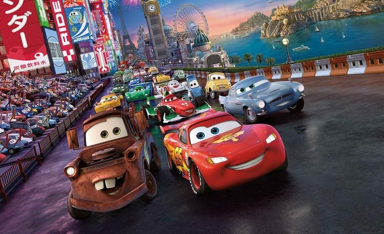 Posters Fototapeta Disney Cars Lightning McQueen Mater, (368 x 254 cm) 368x254 cm - 115g/m2 Paper