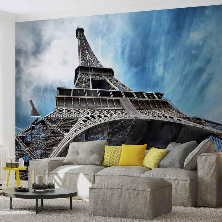 Posters Fototapeta Eiffelova věž Paříž, (184 x 254 cm) 184x254 cm - 115g/m2 Paper