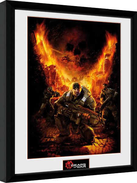 Posters Gears of War - Gears 1 rám s plexisklem