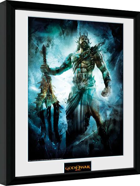 Posters God of War - Poseidon zarámovaný plakát