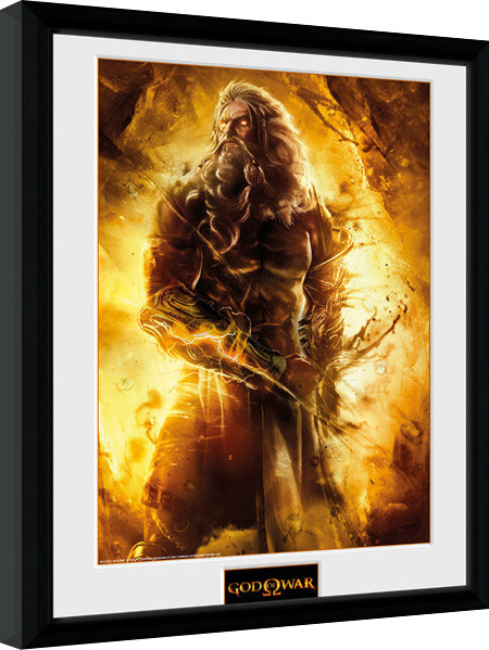 Posters God of War - Zeus zarámovaný plakát