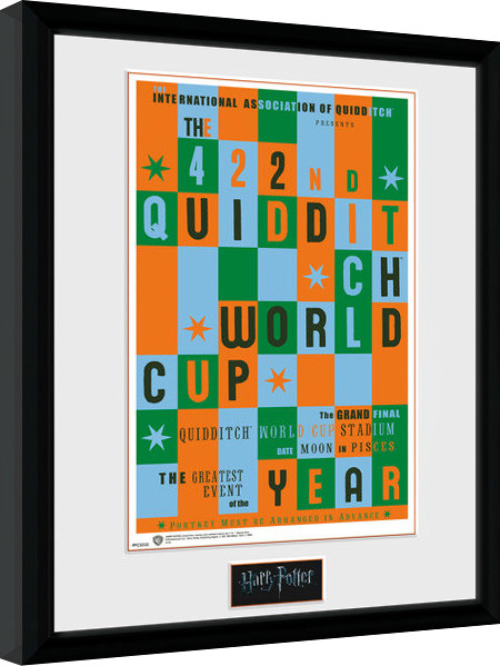 Posters Harry Potter - Quidditch World Cup zarámovaný plakát