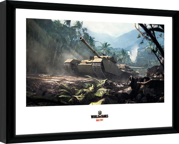Posters World of Tanks - Forest Tanks rám s plexisklem