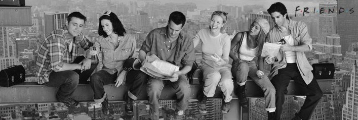 Posters Plakát, Obraz - Friends - Lunch on a skyscraper, (158 x 53 cm)