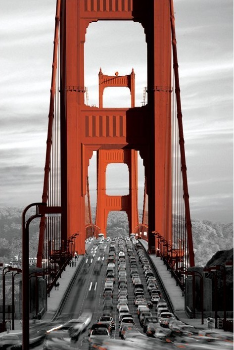 Posters Plakát, Obraz - San Francisco - golden gate bridge, (61 x 91,5 cm)