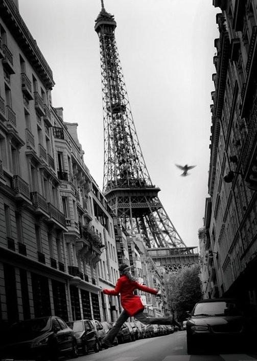 Posters Plakát, Obraz - Paříž - la veste rouge, (100 x 140 cm)
