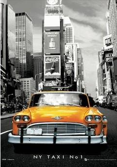 Posters New York - taxi no.1 3D plakát, (30 x 42 cm)