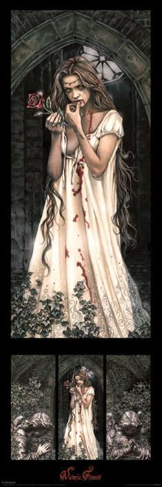 Posters Plakát, Obraz - Victoria Frances - triptych, (30 x 91 cm)