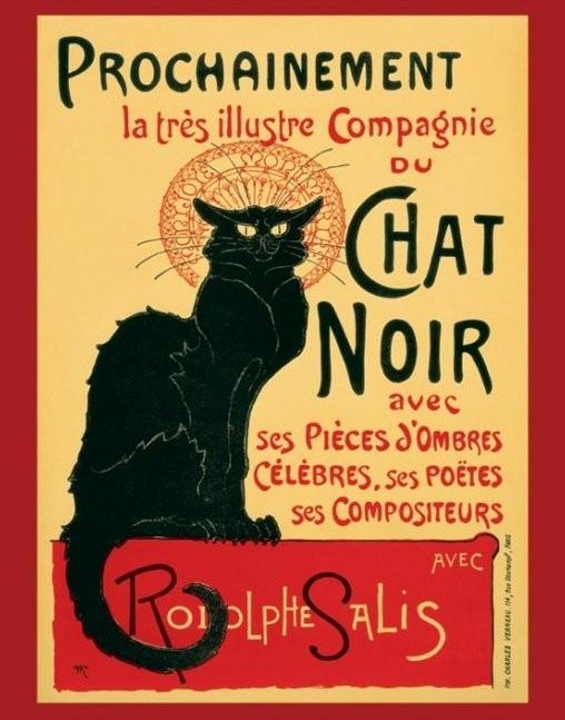 Posters Plakát, Obraz - Le Chat noir, (40 x 50 cm)