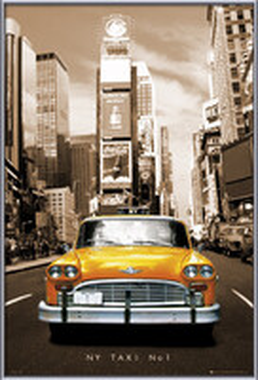 New York taxi no. 1 rámovaný plakát