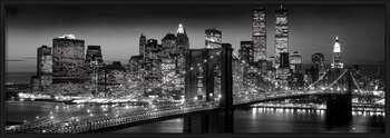 Manhattan - black rámovaný plakát
