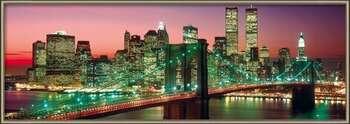 New York - manhattan colour rámovaný plakát