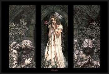 Victoria Frances - triptych rámovaný plakát