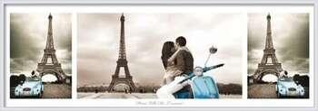 Paříž - triptych rámovaný plakát