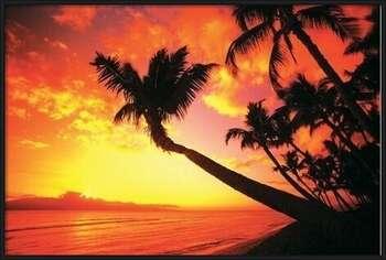 Hawaiin Sunset II rámovaný plakát