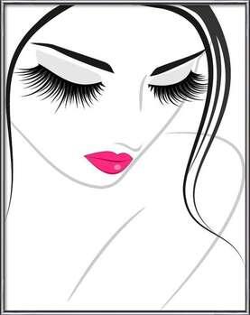 Rámovaný plakát  Lash extension beauty icon