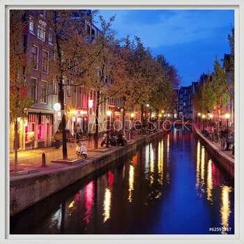Rámovaný plakát  Red Light District in Amsterdam