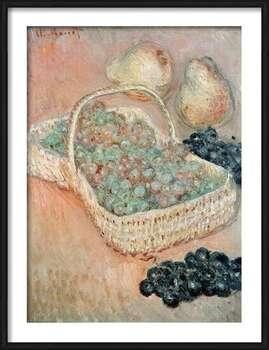 Rámovaný plakát  Claude Monet - The Basket of Grapes, 1884