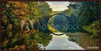 Rámovaný plakát  Amazing place in Germany - Rakotzbrucke also known as Devils Bridge in Kromlau