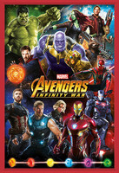Rámovaný plakát  Avengers: Infinity War – Characters