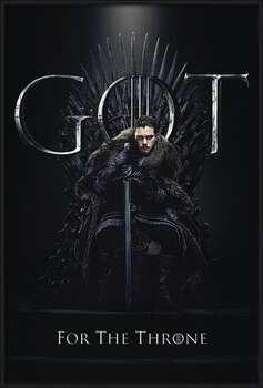 Rámovaný plakát  Hra o Trůny (Game of Thrones) - Jon For The Throne