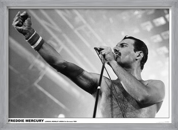 Rámovaný plakát Freddie Mercury - Wembley 1984