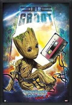 Rámovaný plakát Guardians Of The Galaxy Vol 2 - Groot