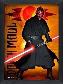 Rámovaný plakát STAR WARS - darth maul
