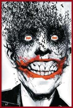 Rámovaný plakát BATMAN Comic - Joker Bats