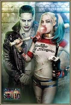 Rámovaný plakát Suicide Squad - Joker and Harley Quinn