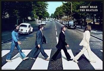 Rámovaný plakát Beatles - abbey road