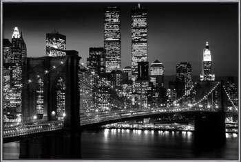 Rámovaný plakát Manhattan - night