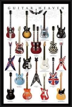 Rámovaný plakát Guitar heaven