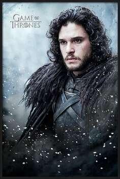 Rámovaný plakát Game of Thrones - Jon Snow