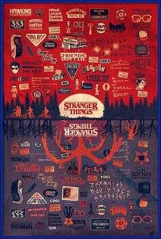 Rámovaný plakát Stranger Things - The Upside Down