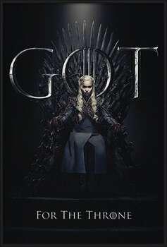 Rámovaný plakát Game Of Thrones - Daenerys For The Throne