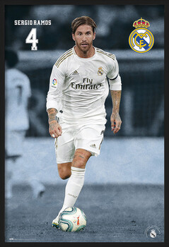 Rámovaný plakát Real Madrid 2019/2020 - Sergio Ramos