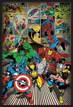 Rámovaný plakát MARVEL COMICS - here come
