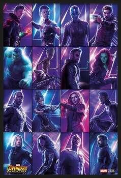 Rámovaný plakát Avengers: Infinity War - Heroes