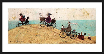 Rámovaný plakát Sam Toft - Electric Bike Ride