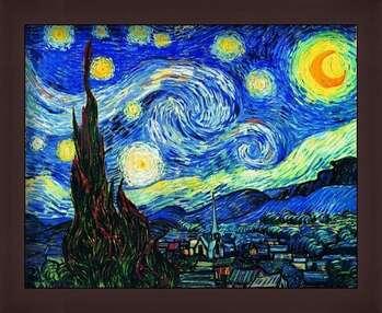 Rámovaný plakát The Starry Night, June 1889