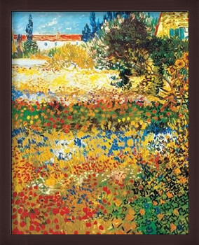 Rámovaný plakát Flowering garden, 1898