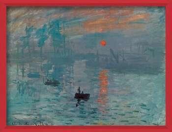 Rámovaný plakát Impression, Sunrise - Impression, soleil levant, 1872
